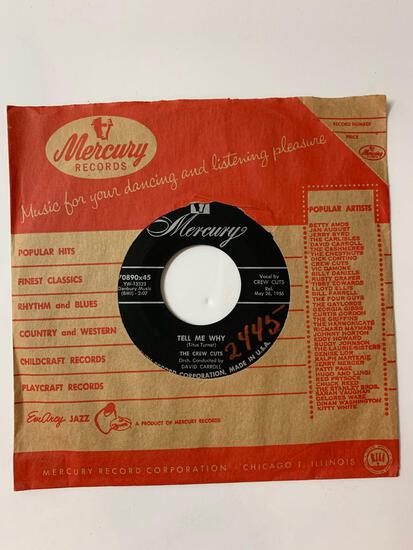 The Crew Cuts ?? Tell Me Why / Rebel In Town 45 RPM 1956 Record