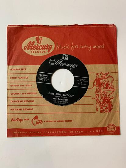 The Gaylords ?? One Night Only 45 RPM 1956 Record