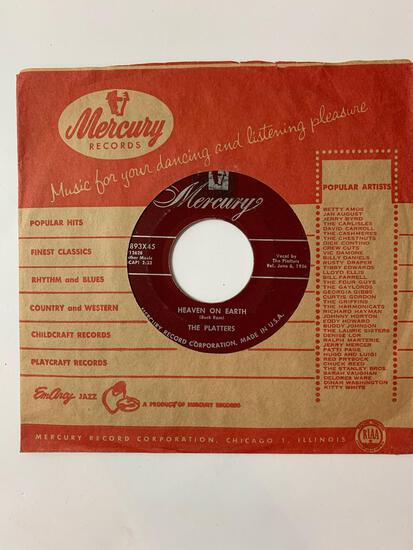 The Platters ?? My Prayer / Heaven On Earth 45 RPM 1956 Record