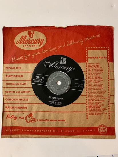 David Carroll And His Orchestra?? Whispering / Marimba Charleston 45 RPM 1956 Record