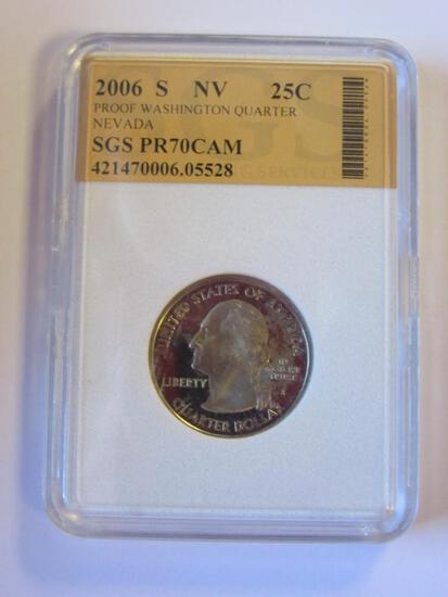 2006S Nevada State Quarter SGS PR70CAM