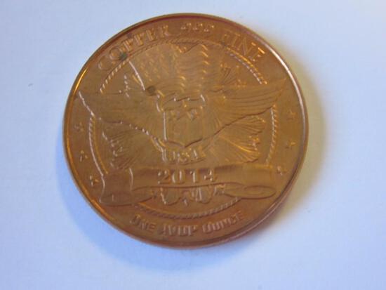 2014 .999 Copper Buffalo Coin