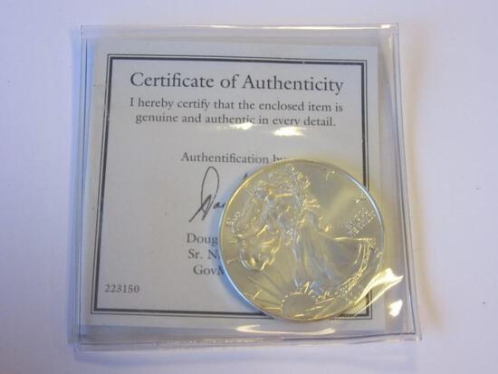2013 .999 Silver 1oz American Eagle Dollar w/ COA