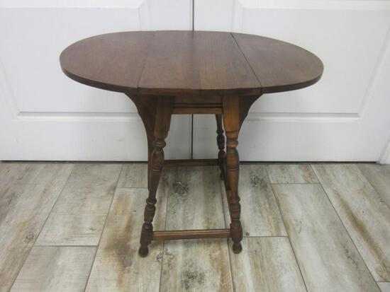 Small Vintage Collapsible Wooden Table