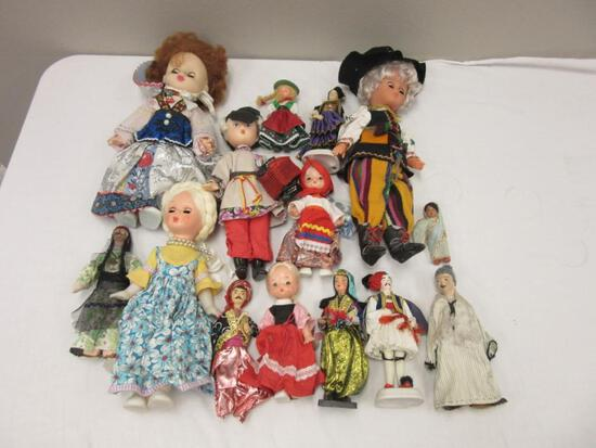 Lot of 14 International-Themed Dolls