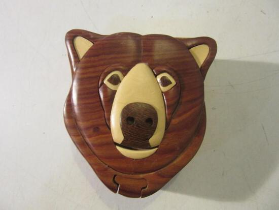 "Wooden Bear Design 3D Puzzle 4""x4""x2"""