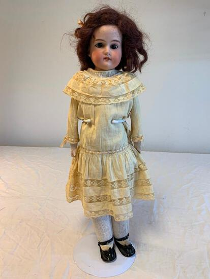"Antique 20"" Germany Bisque Doll with Dress"