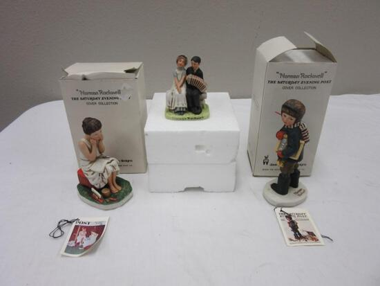 Lot of 3 Norman Rockwell Figurines