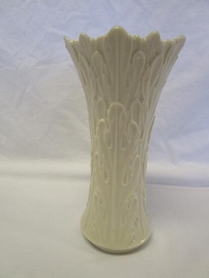 "Lenox 8.5"" cream ivory Woodlands vase"