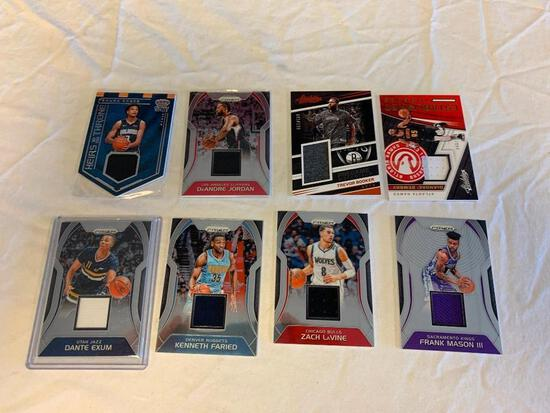 Lot of 8 Current Basketball JERSEY Insert Cards