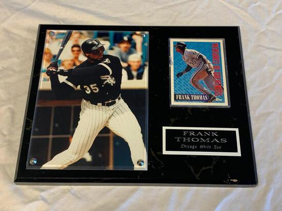 FRANK THOMAS White Sox Wall Plaque with Photo and Trading Card