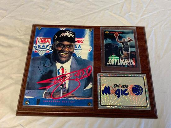 SHAQUILLE O'NEAL Orlando Magic Wall Plaque with Photo and Trading Card