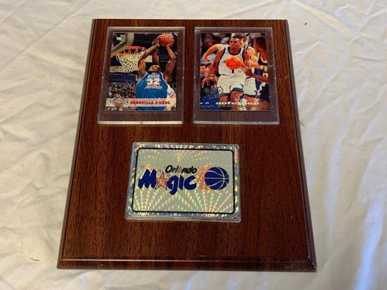 O'NEAL and HARDAWAY Orlando Magic Wall Plaque with Trading Cards