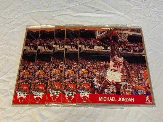 Lot of 5 MICHAEL JORDAN 8x10 Color Photos NBA Hoops Action Photos NEW