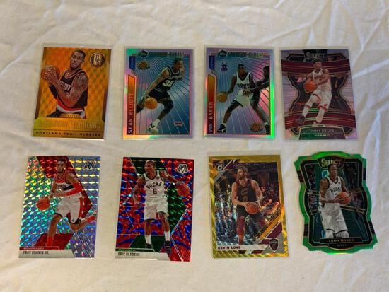 Lot of 8 Current Basketball PRIZM REFRACTORS Insert Cards