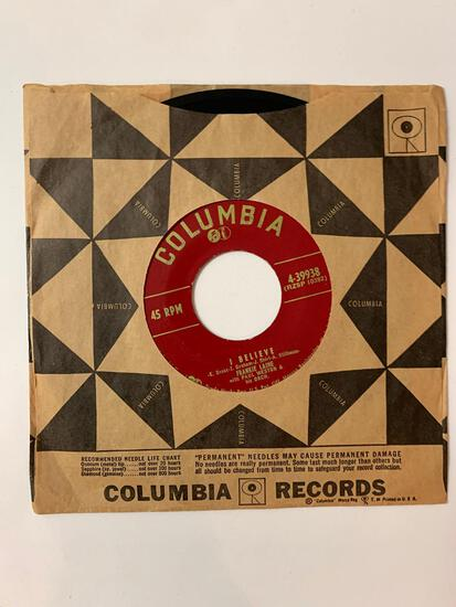 FRANKIE LAINE Your Cheatin' Heart / I Believe 45 RPM 1953 Record