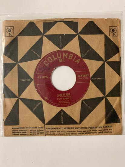 DON CHERRY Band Of Gold 45 RPM 1955 Record