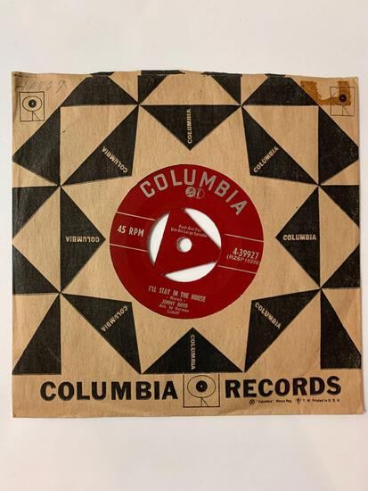 JIMMY BOYD Early Bird / I'll Stay In The House 45 RPM 1953 Record