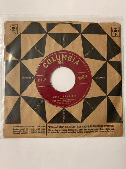 PETER LIND HAYES AND MARY HEALY I Wish I Was A Car 45 RPM 1955 Record