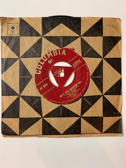 GUY MITCHELL She Wears Red Feathers / Pretty Little Black-Eyed Susie 45 RPM 1952 Record