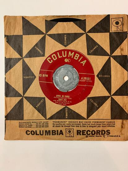DORIS DAY April In Paris 45 RPM 1952 Record