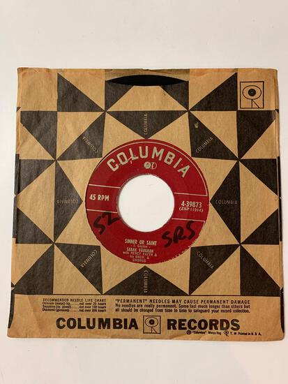 SARAH VAUGHAN WITH PERCY FAITH AND HIS ORCH AND CHORUS Sinner Or Saint / Mighty Lonesome Feelin 45