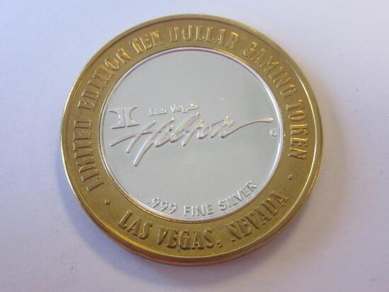 .999 Silver Hilton Hotel & Casino $10 Gaming Token