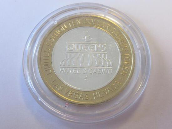.999 Silver Four Queens Casino $10 Gaming Token