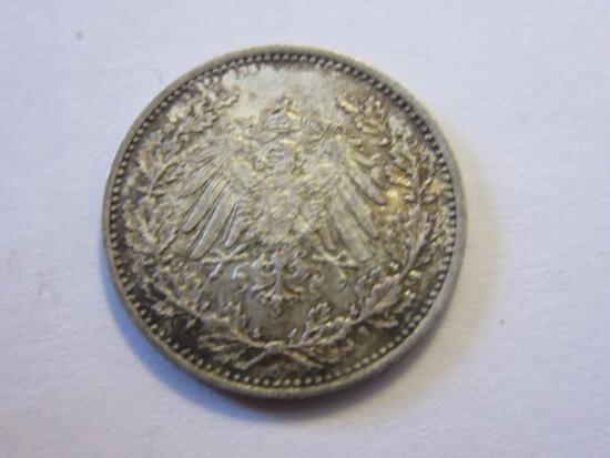 1903 .90 Silver German Empire 50 Pfennig Coin