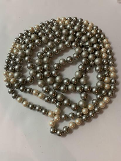 Lot of three costume pearl necklaces