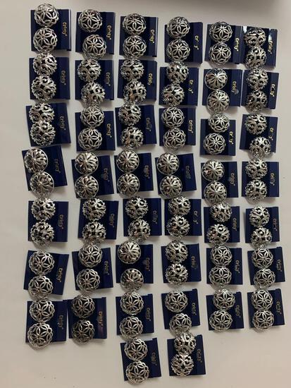 Lot of 44 costume vintage earrings
