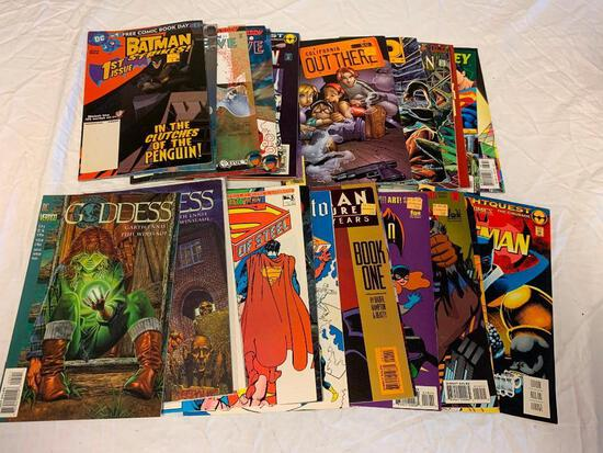 Lot of 26 Comic Books-Birds Of Prey, Superman, Batman and others