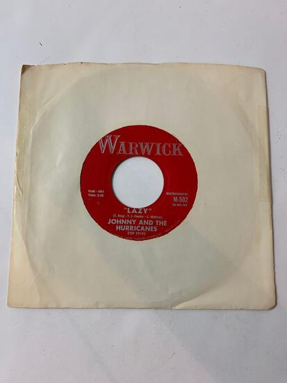 JOHNNY AND THE HURRICANES ?? Crossfire / Lazy 45 RPM 1959 Record