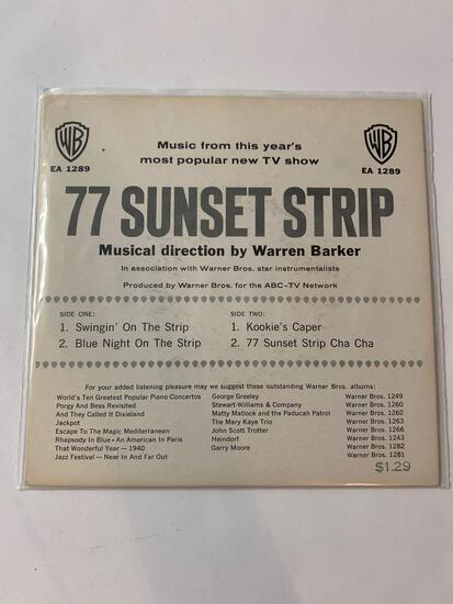 77 SUNSET STRIP (Music From This Year's Most Popular New TV Show) 45 RPM 1959
