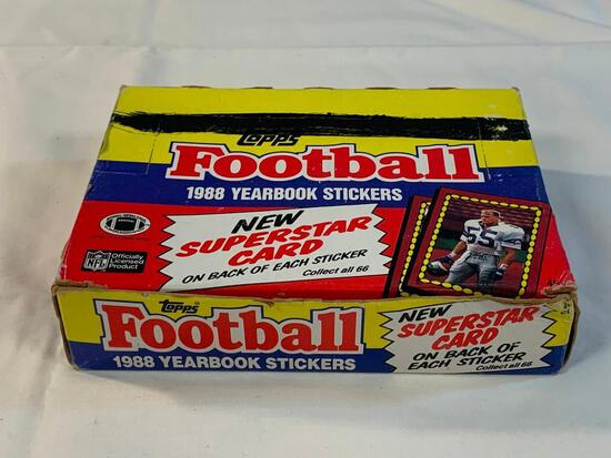 1988 Topps Football Yearbook Stickers Unopened Box
