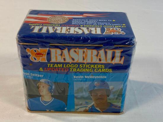 1987 Fleer Glossy Baseball Update Tin Factory NEW