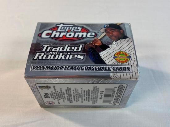 1999 Topps Chrome Traded and Rookie Set SEALED