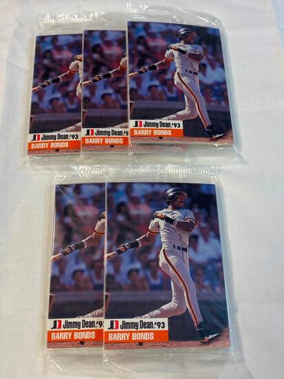 Lot of 5 1993 Jimmy Dean Baseball Unopened Packs