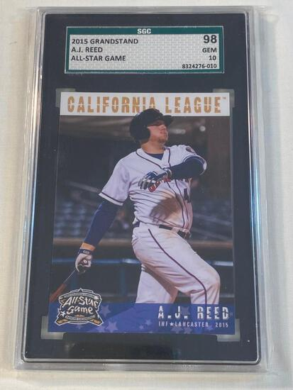 A.J. REED 2015 Grandstand ROOKIE Graded 98 GEM 10