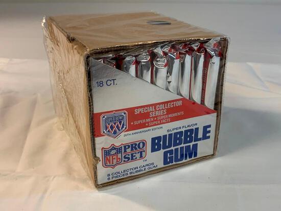 1990 Pro Set Super Bowl XXV Wax Box 18 Packs NEW