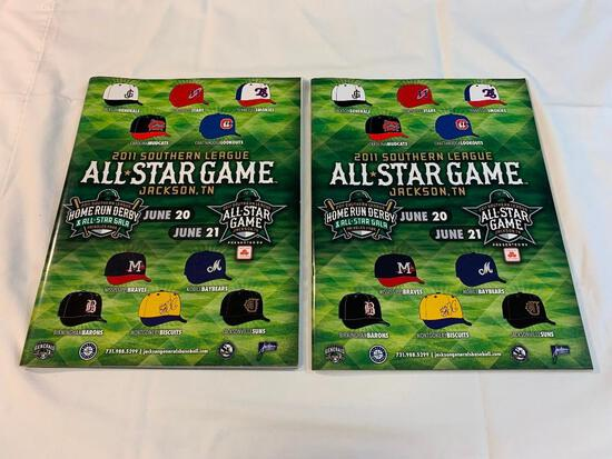 2 2011 Southern League Baseball All Star Programs