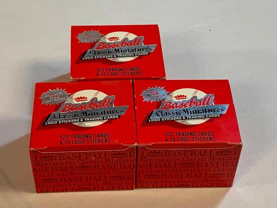 3 Sets of 1986 Fleer Baseball Miniature Cards