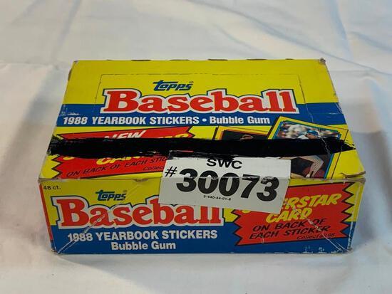 1988 Topps Baseball Stickers Box of 48 Packs NEW