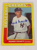 FRANKIE CROSETTI Yankees AUTOGRAPH Baseball Card