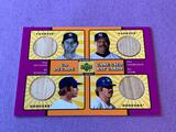 2001 UD Decade Game Used BAT Cards 4 Panels