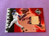 CARL EVERETT 2002 Upper Deck Game Used BAT Card