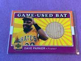 DAVE PARKER 2001 UD Baseball Game Used BAT Card