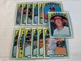 Lot of 13 ASTROS 1972 Topps Baseball Cards