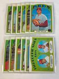 Lot of 12 RED 1972 Topps Baseball Cards