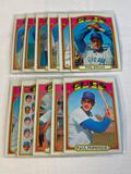 Lot of 11 CUBS 1972 Topps Baseball Cards